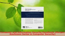 Read  Computer and Information Security Handbook Morgan Kaufmann Series in Computer Security EBooks Online