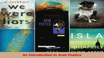 PDF Download  An Introduction to Arab Poetics Download Online