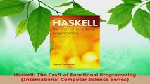 Read  Haskell The Craft of Functional Programming International Computer Science Series Ebook Free