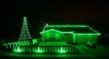 Superbe maison décorée pour Noël (Star Wars)
