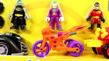 Imaginext DC Superfiends Gift Set With Batman Batmobile Joker Motorcycle Robin Four Wheele