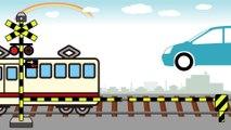 赤ちゃん笑う、泣きやむ いないいないばぁっ 踏切☆電車☆乗り物ヒューン railroad crossing