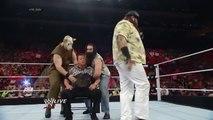 WWE RAW 28th DECEMBER 2015-WWE Brock Lesnar Attacks Wyatt Family