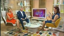 RUTH LANGSFORD: : ITV This Morning 29 July 2013 Soapy Bits with Sharon Marshall