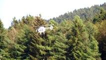 HUGHES 500 E GIANT RC WHISPER SCALE MODEL HELICOPTER / Turbine meeting 2015 *1080p50fpsHD*