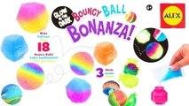 Rainbow Color Glow in the Dark Bouncy Ball Bonanza --- Alex Toys Do it yourself Kit