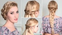 Holiday/Christmas hairstyles with braids for medium/long hair tutorial