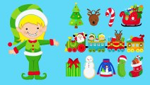 Learning to Count for Christmas - Counting to 10 Santa's Reindeer_ Christmas Cookies_ Candy Canes