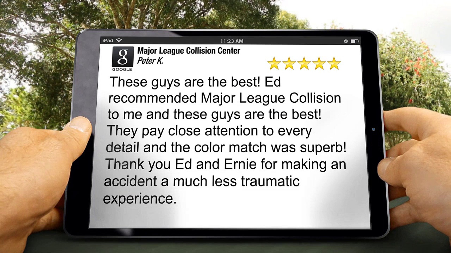 Major League Collision Center MesaRemarkable5 Star Review by Peter K.