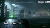 Batman: Arkham Knight All Riddler Trophies Miagani Island Part 1 (22 trophies)