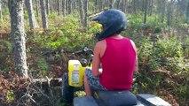 Failed Banshee Quad Ride (Blowing Oil & Shifter Fail)