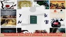 Download  Recombinant DNA Part I Volume 218 Volume 218 Recombinnt Dna Part I Methods in Ebook Online