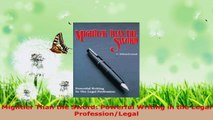 Read  Mightier Than the Sword Powerful Writing in the Legal ProfessionLegal EBooks Online
