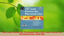 Read  101 Law Forms for Personal Use 101 Law Forms for Personal Use 2nd ed EBooks Online