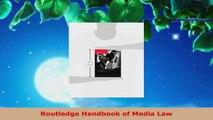 PDF Download  Routledge Handbook of Media Law PDF Full Ebook