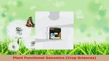 Read  Plant Functional Genomics Crop Sciences Ebook Free