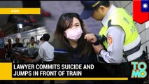 Train tracks: Man jumps in front of oncoming train in apparent suicide - TomoNews