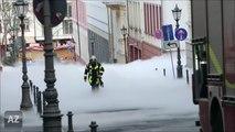 Une ville d'allemagne noyée dans le brouillard de CO2 à cause d'un camion de produit chimique