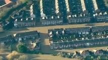 Les images aériennes des inondations à York