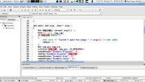Canny edge detection + Farneback optical flow - video