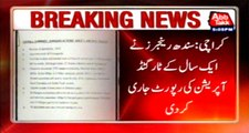 Sindh Rangers released Karachi Targeted Operation report