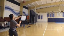 Mark Wahlberg Shows Off Trick-Shot Skills by Making Full-Court Shot with Football