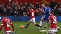 Juan Mata Fantastic Crossbar Almost GOAL - Manchester United v. Chelsea 28.12.2015 HD