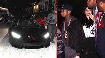 Tyga y Kylie Jenner vistos en el nuevo Lambo de Tyga!