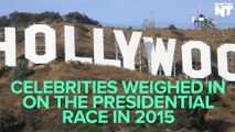 Celebrities Show Support For Presidential Candidates