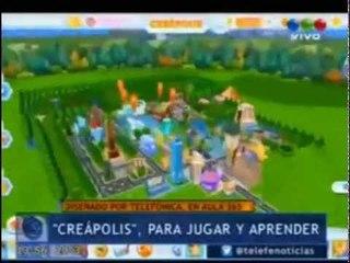Presentación de Creapolis, la Ciudad de los Creadores, by Aula365, en Telefe Noticias