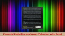 PDF Download  Financial Modelling and Asset Valuation with Excel Download Online