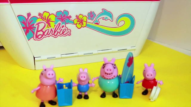 barbie toys Peppa Pig Play Doh Barbie Cruise Like Disney Frozen Cruise Ship Series DisneyCarToys