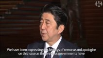 Abe hails Japan South Korea aid for 'comfort women' wartime sex slaves agreement