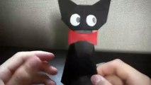 折り紙でジジ〔魔女の宅急便〕を作ってみた!