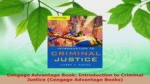 PDF Download  Cengage Advantage Book Introduction to Criminal Justice Cengage Advantage Books Read Full Ebook