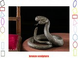 Bronze snake rattlesnake bronze sculpture figure sculpture antique style