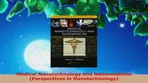 PDF Download  Medical Nanotechnology and Nanomedicine Perspectives in Nanotechnology PDF Online