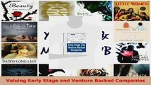 PDF Download  Valuing Early Stage and Venture Backed Companies PDF Online