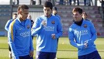 FC Barcelona last training session before Betis