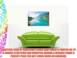 LAKE MOUNTAINS AND FORESTS NATURE PICTURES CANVAS WALL ART FRAMED PRINTS HOME DECO SIZE: A1
