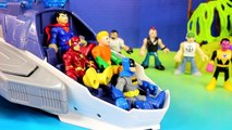 Imaginext Flash Superman Batman Flash Cyborg & Aquaman Try To Stop Injustice League Tryouts
