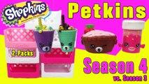 Shopkins Season 4 unpacking Petkins 2 Packs vs. Season 3. CoolToys video for kid
