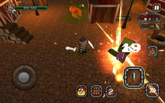 Pixel F Blade - Android gameplay PlayRawNow