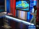 Pakistani Sexy news anchor Gharida Farooqi in white leggings and high heels