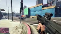 GTAV Gameplay - On Streets With Sniper