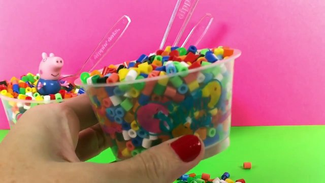 Rainbow Dippin Dots Surprise Toys Hello Kitty Peppa Pig Masha i Medved Toy Videos
