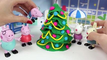 Play Doh Peppa Pig Christmas Tree How To Make Christmas Tree with Play Doh Twinkle Little