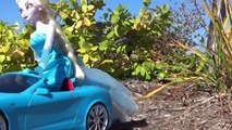 ride on car DISNEY FROZEN ELSA DRIVES CAR - RC car toys and POWER WHEELS Ride on car for kids