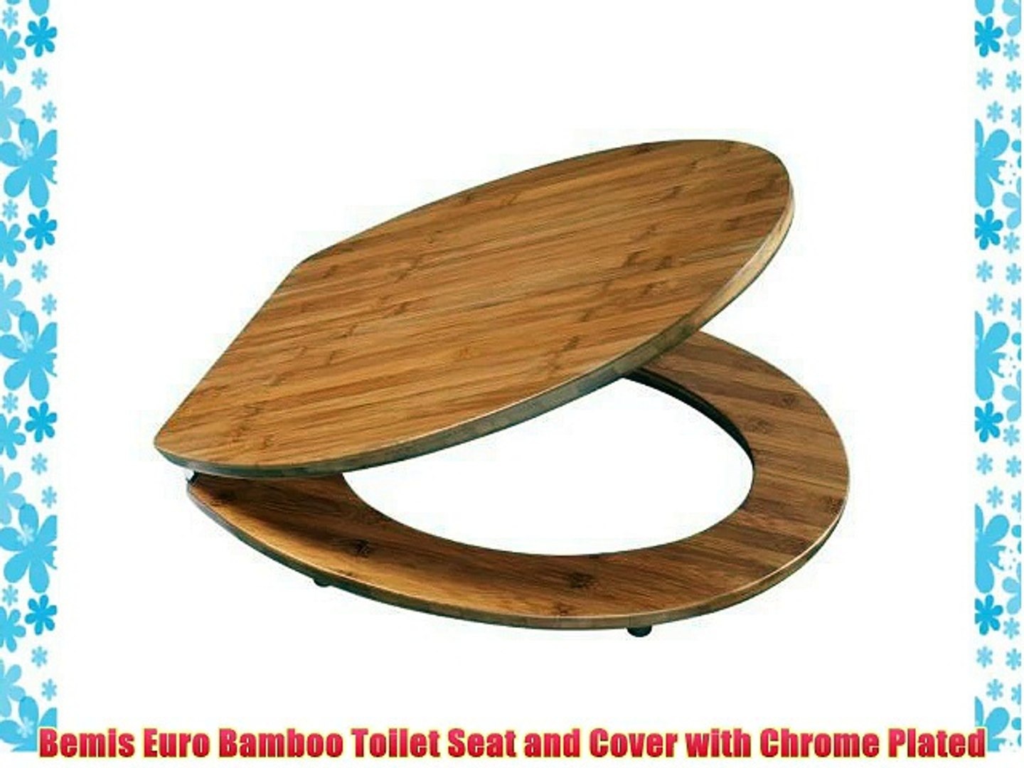 Remarkable Bemis Euro Bamboo Toilet Seat And Cover With Chrome Plated Machost Co Dining Chair Design Ideas Machostcouk