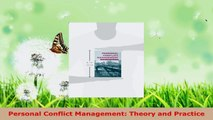 Download  Personal Conflict Management Theory and Practice Ebook Free